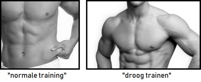 Normale training en droogtrainen